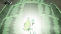Aria y Yuna con el cristal del viento