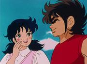 Cita de Seiya y Miho