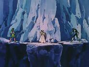 Athena y Seiya vs Caballeros de Plata