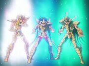 Hyoga, Seiya y Shiryu Oro 7