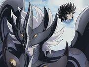 Valentin se dispone a pelear con Seiya