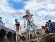 Shaina, Ichi, Raki y Geki