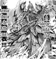 Armadura de Athena en el Manga (Lost Canvas)