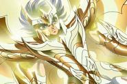 Ikki portant l'Armure Divine du Phénix