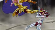 Scorpius golpea a Pegasus omega