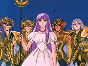Athena y los Caballeros de Oro