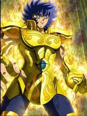 Ikki con la armadura de leo