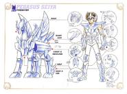 Schéma de la 4ème Armure de Pégase