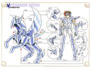 Schéma de la 5ème Armure de Pégase