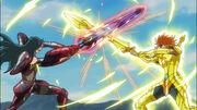 Duelo de espadas Aegir vs Genbu