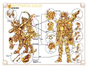Schéma de l'Armure du Sagittaire