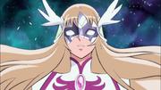 Yuna con la máscara rota