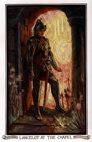 Lancelot en la capilla por Amy Thewamy