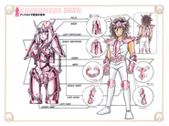Schéma de la 1ère Armure d'Andromède