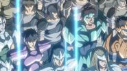 Saints XVIII invasión al castillo anime6