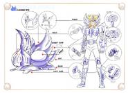 Schéma de la 2nd Armure du Cygne