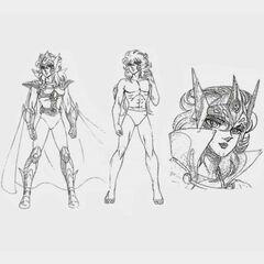 アニメ版ミスティのデザイン
