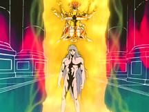 Saga revelando ser o Cavaleiro de Gêmeos