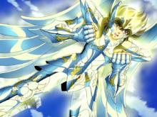 Seiya veste a Armadura Divina de Pégaso