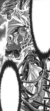 Cronos em batalha contra Saga