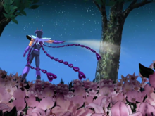 Ikki joga cinzas no Jardim das Árvores Sala Gêmeas