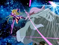 Dohko é atingido pelo poder supremo de Shion