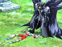 Thanatos castiga Seiya