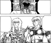 Aiolia e Milo comparecem ao chamado do Grande Mestre