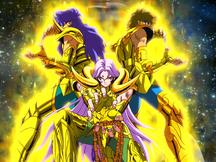 Exclamação de Atena - Mu, Milo e Aiolia