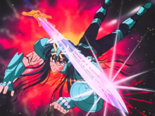 Shiryu - Excalibur habita seu braço direito