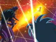 Aiolia ataca o trio de renegados
