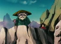 Dohko e Shunrei assistem a luta de Shiryu contra Ohko