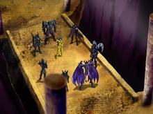 A batalha entre Kanon e Radamanthys é interrompida pelos espectros