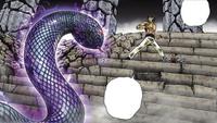 Dohko é abordado por uma Serpente de Ofiúco