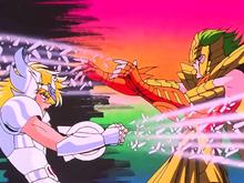Hyoga vs Isaak