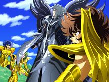 Thanatos sai ileso do ataque combinado dos Cavaleiros