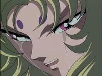 Shion chora pela morte de Atena