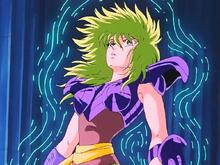 Shaina é paralisada pela cosmo-energia de Poseidon