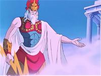 Zeus representação anime