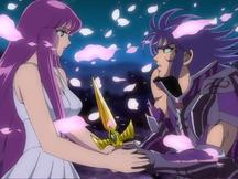 Saori pede a Saga que a mate