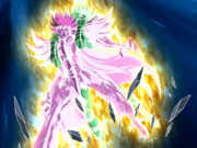 Kanon usa a Explosão Galáctica num ataque suicida para matar Radamanthys