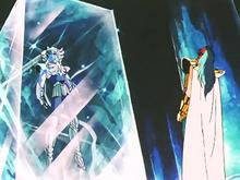 Camus encerra Hyoga no Caixão de Gelo