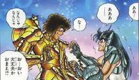 Shiryu reencontra Dohko no passado