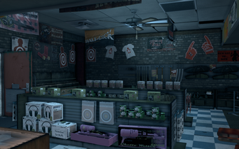 Friendly Fire - interior view of left wall in Saints Row The Third