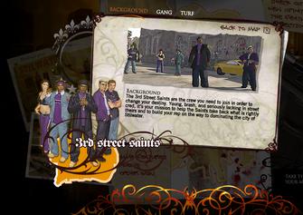 Saints Row promo website - 3rd Street Saints Background