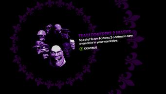 DLC unlock SRTT - Valve Clothing Pack - Team Fortress 2 Masks