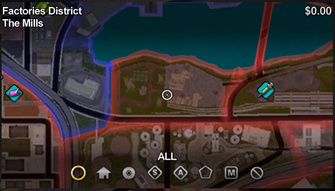 The Mills map in Saints Row