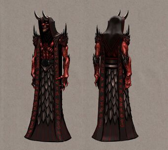 Dark Inciter Concept Art - front and back