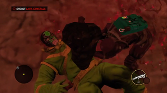 Gangstas in Space - Playa hitting Killbane with a rock