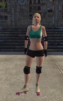 Rollerskater - white2 - character model in Saints Row